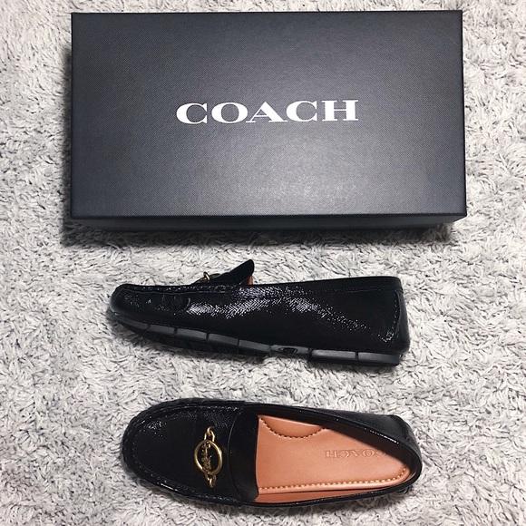 690da96f388 Coach Margot glossy black loafers